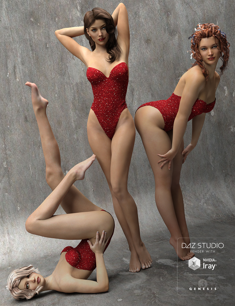 The Spirit of '45 - Pinup Poses for Genesis 3 Female(s) by: Val3dart, 3D Models by Daz 3D