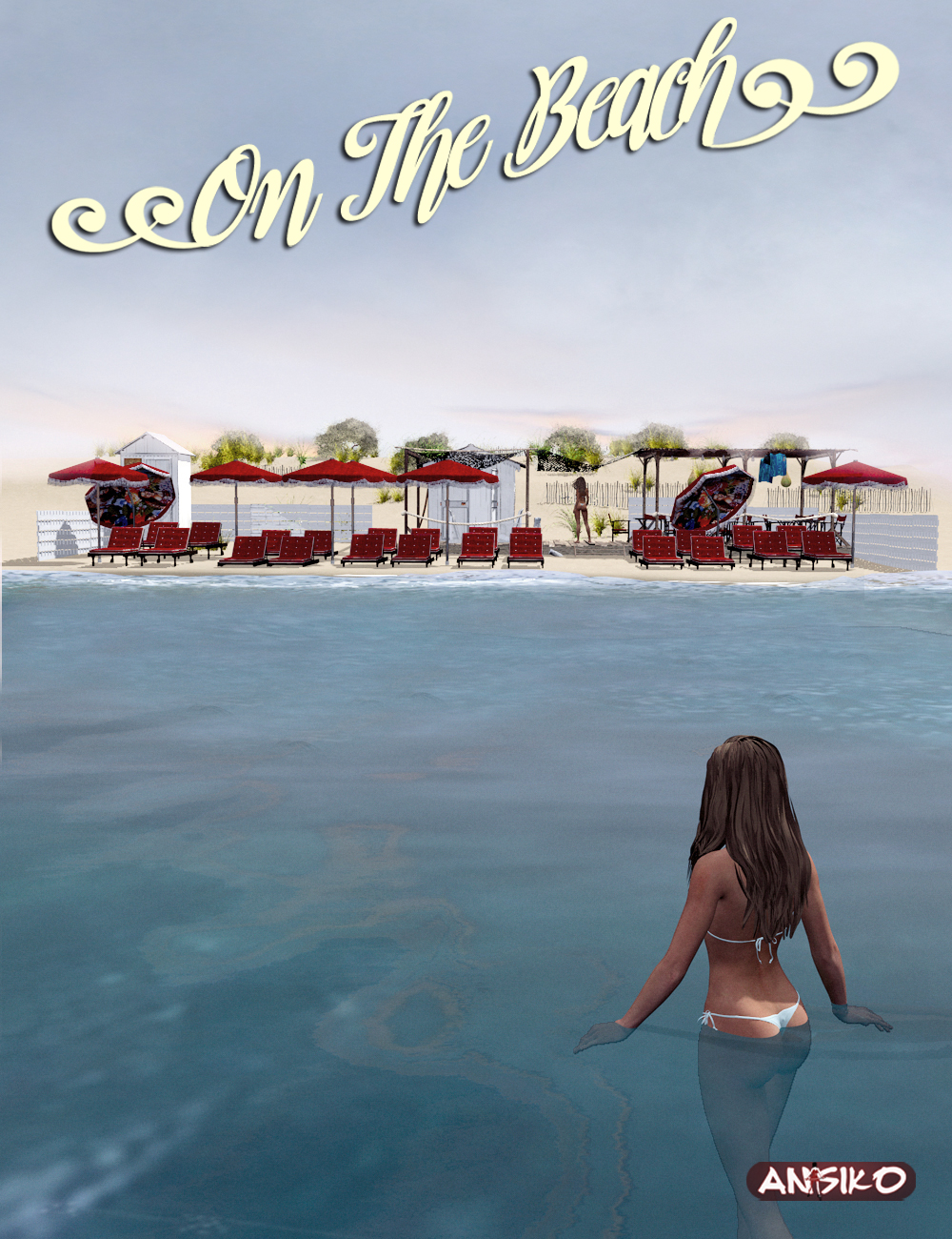 On the Beach by: Ansiko, 3D Models by Daz 3D