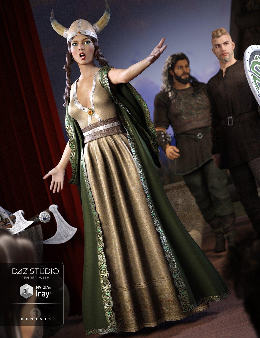 Viking Opera Singer for Genesis 3 Female(s) by: NikisatezShox-Design, 3D Models by Daz 3D