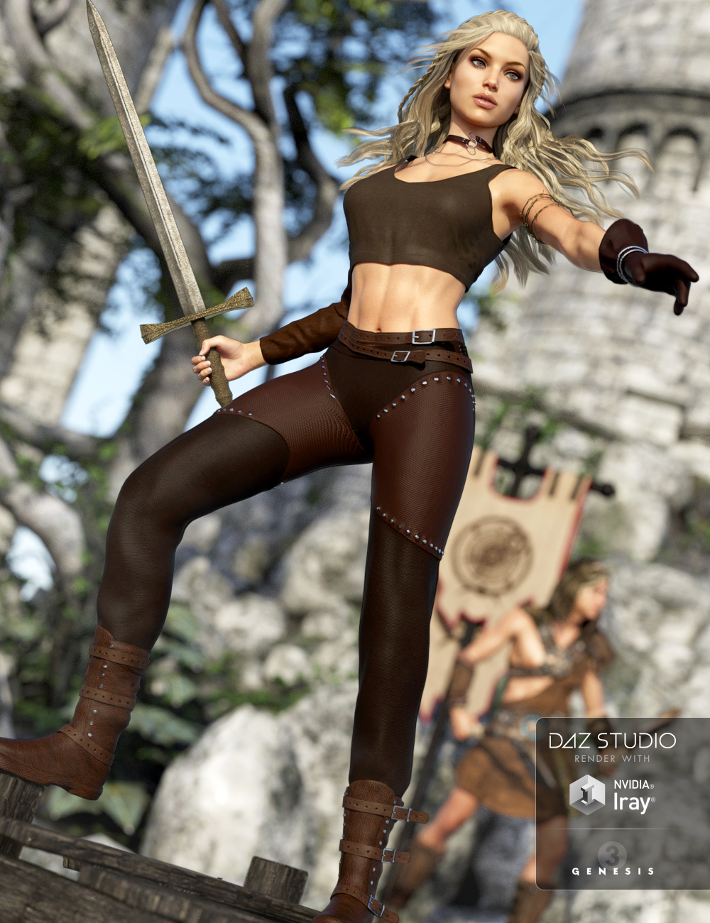 Adventure Girl Outfit for Genesis 3 Female(s) by: OziChick, 3D Models by Daz 3D