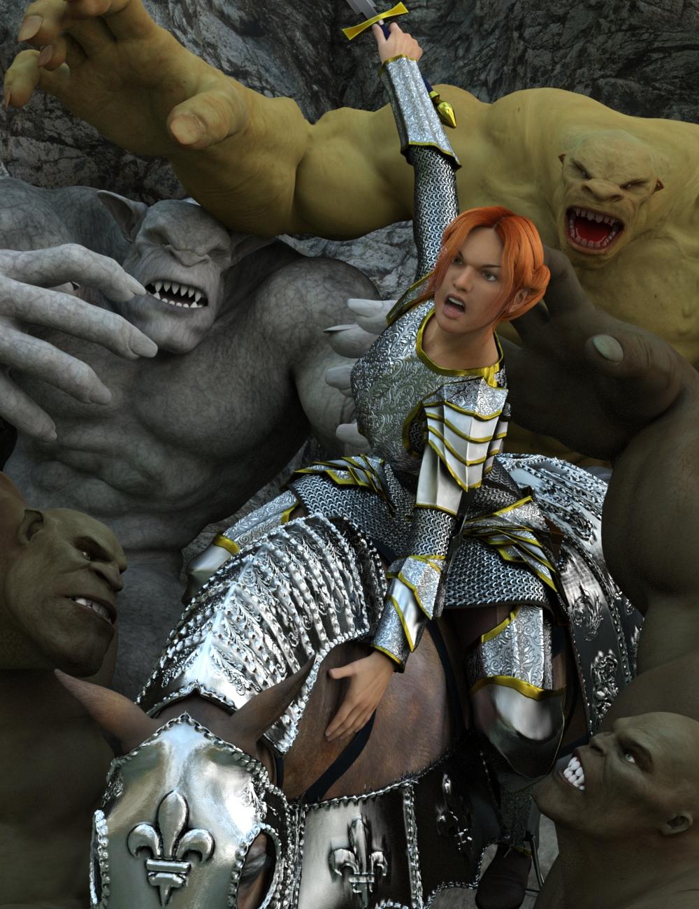 Mercenary Knight by: Valandar, 3D Models by Daz 3D