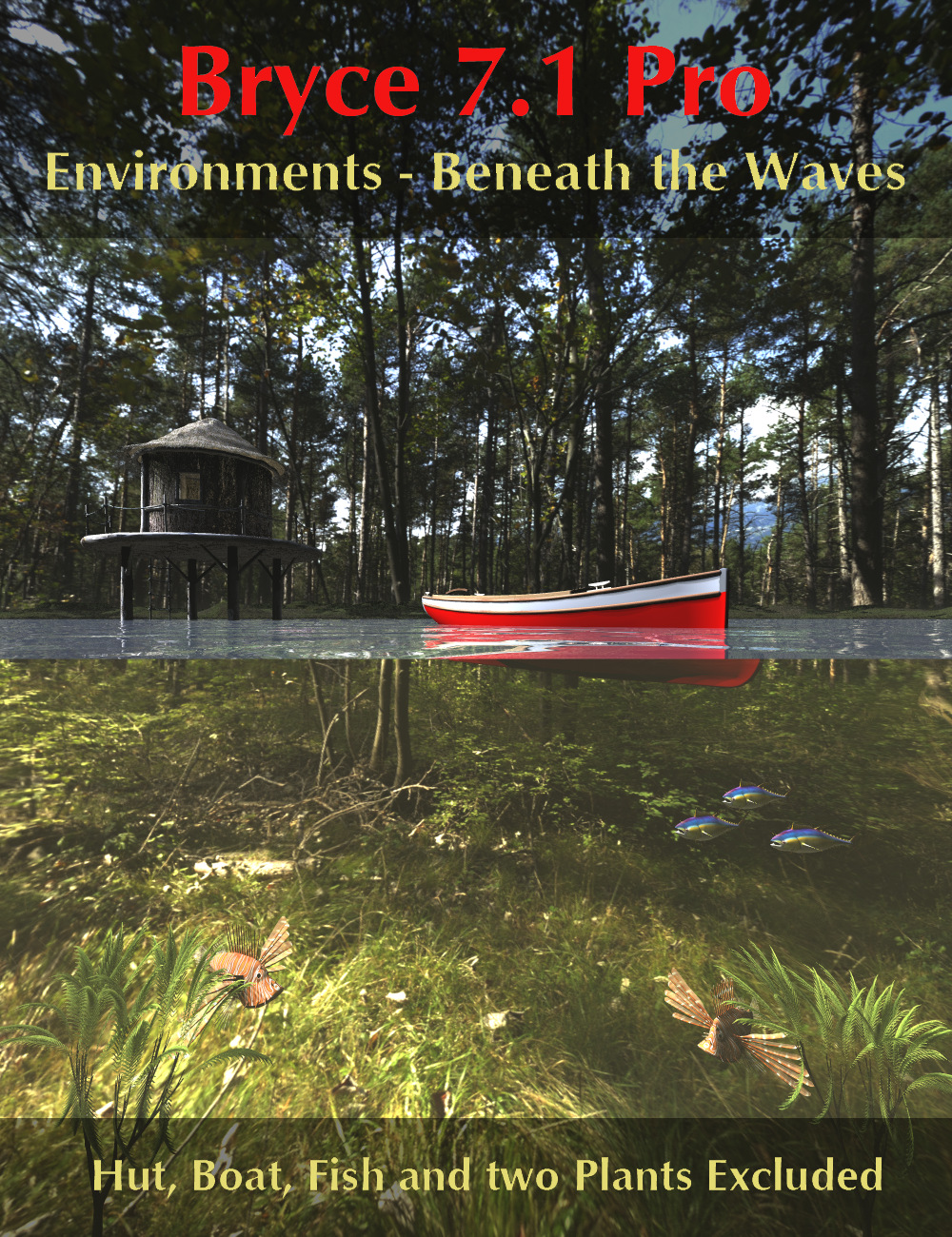 Bryce 7.1 Pro - Environments - Beneath the Waves by: David BrinnenHoro, 3D Models by Daz 3D