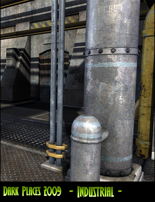 Dark Places: Industrial 2k9 by: Stonemason, 3D Models by Daz 3D