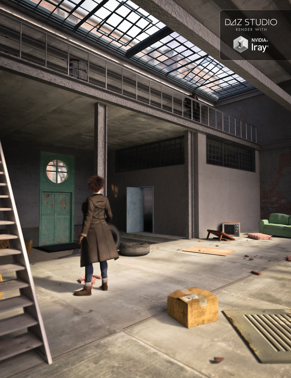 Franklin Square Loft by: ForbiddenWhispers, 3D Models by Daz 3D