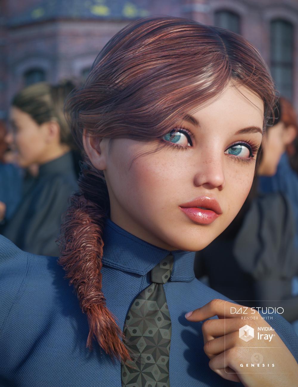 Eclectic Hair for Genesis 3 Female(s) by: goldtassel, 3D Models by Daz 3D