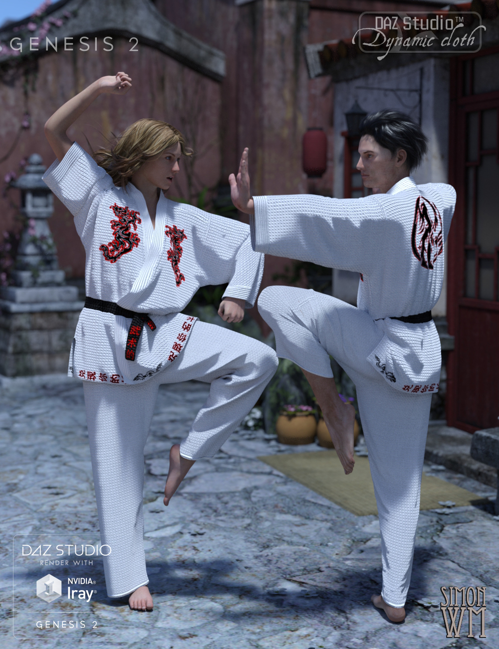 Dynamic Martial Arts Gi: Genesis 2 by: SimonWMOptiTex, 3D Models by Daz 3D