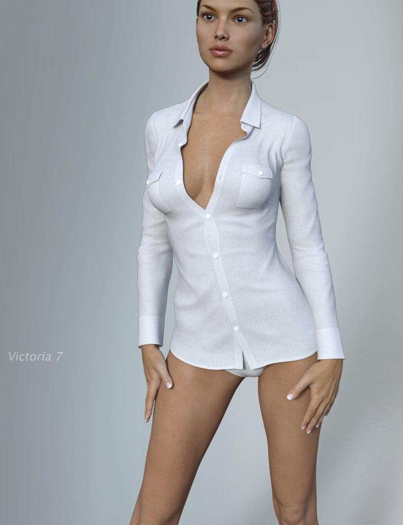 Hongyu's Shirt for Victoria 7 by: hongyu, 3D Models by Daz 3D