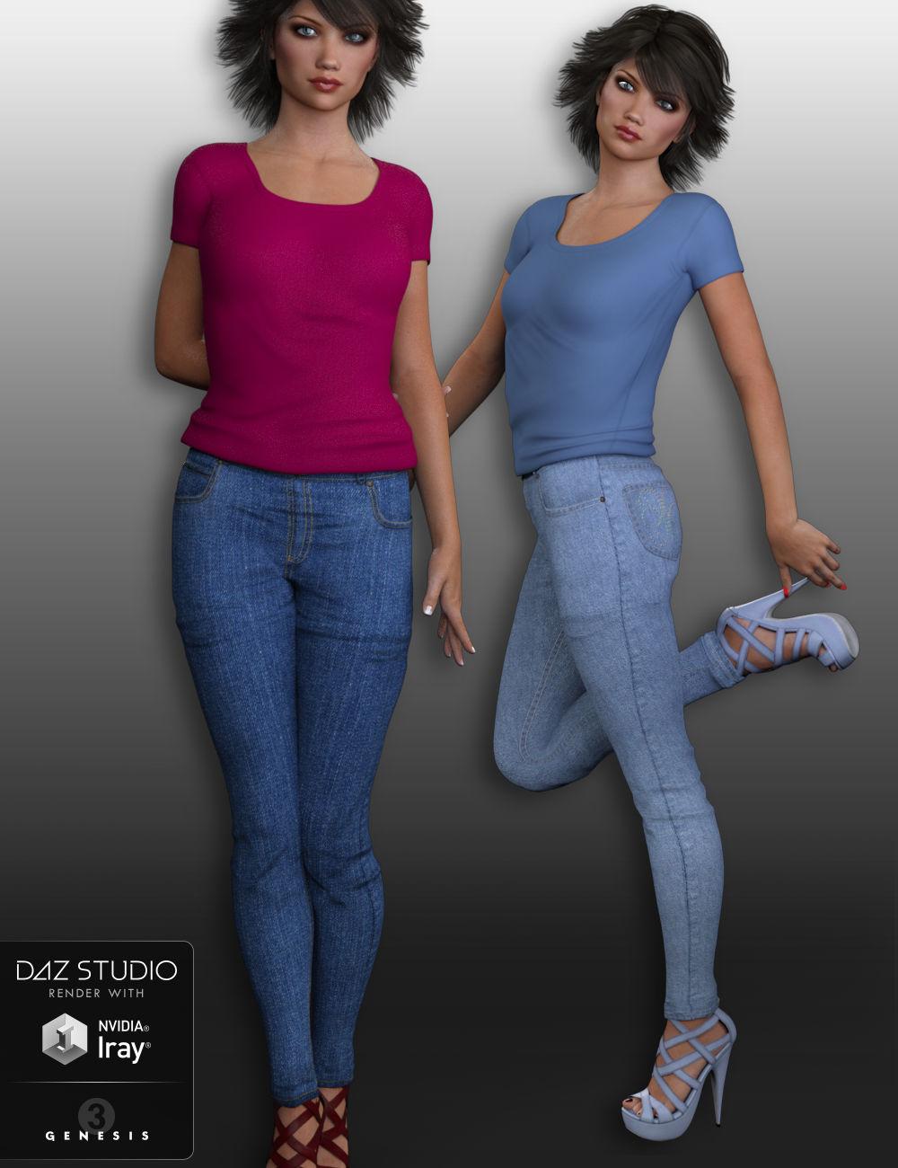 Skinneez for Genesis 3 Female(s) by: WildDesigns, 3D Models by Daz 3D