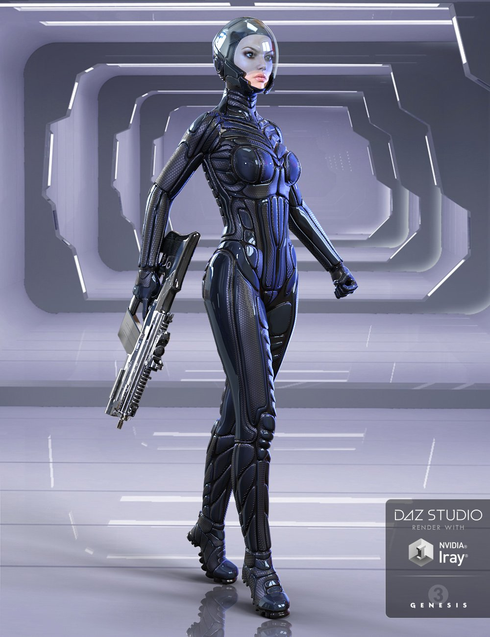 Titan Suit for Genesis 3 Female(s) by: midnight_stories, 3D Models by Daz 3D