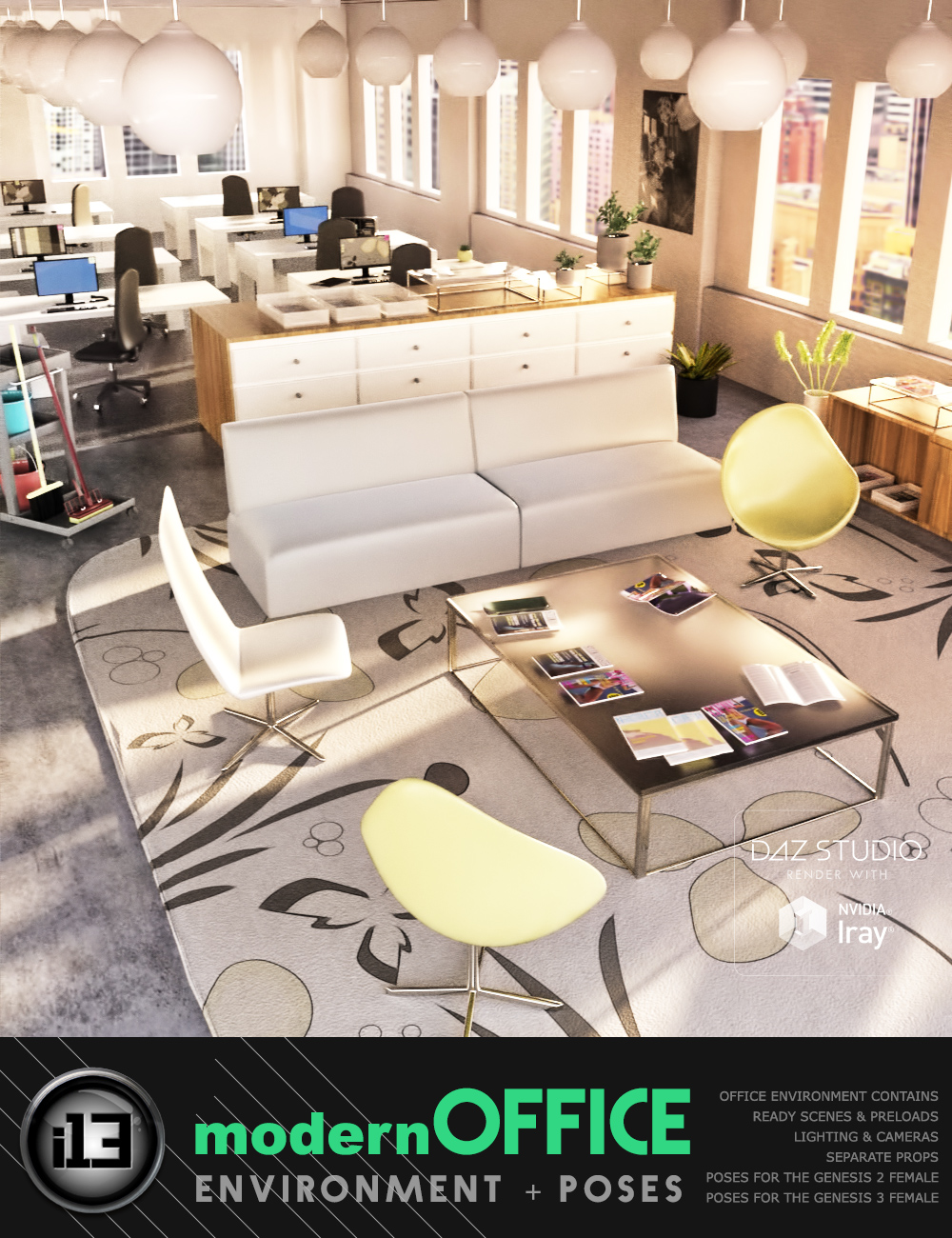 i13 Modern Office by: ironman13, 3D Models by Daz 3D