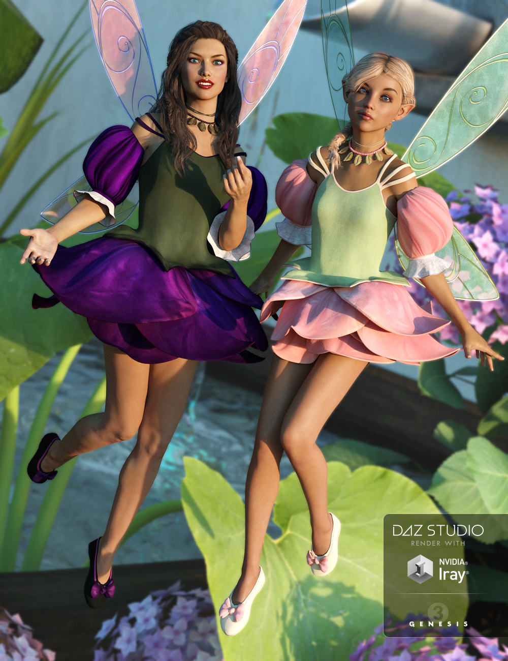 Rose Fairy Textures by: Sarsa, 3D Models by Daz 3D