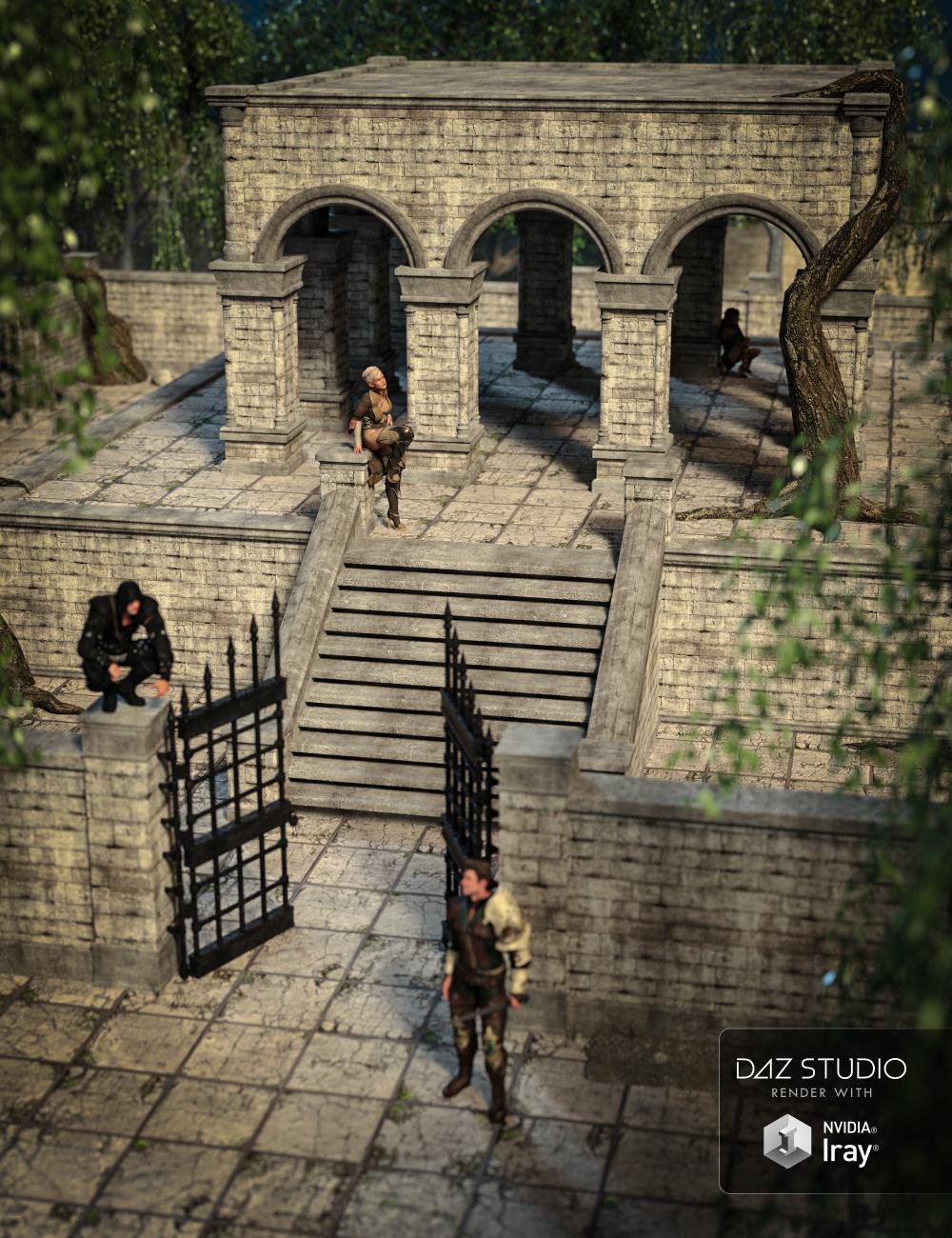 Fantasy Courtyard by: , 3D Models by Daz 3D