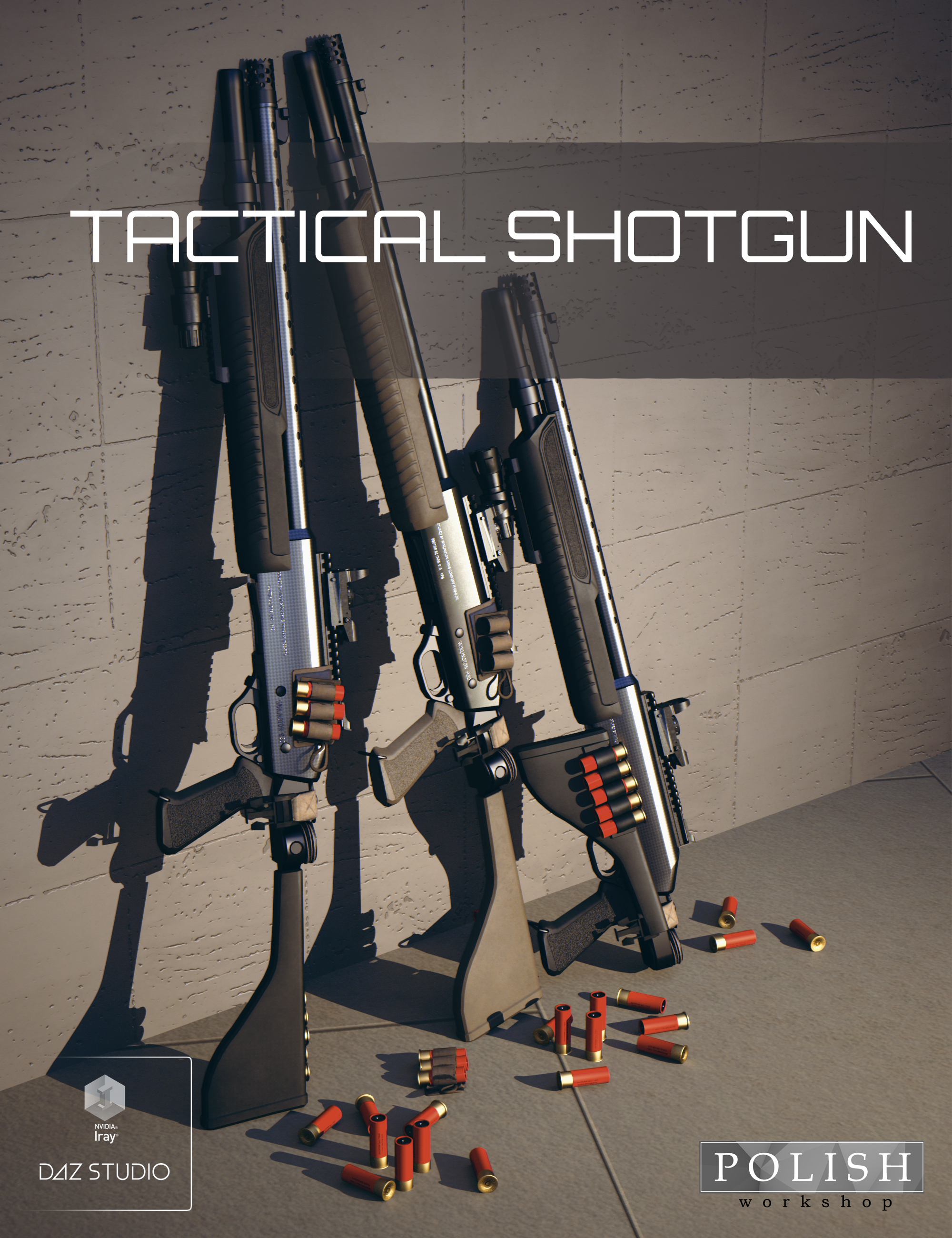 Tactical Shotgun by: Polish, 3D Models by Daz 3D