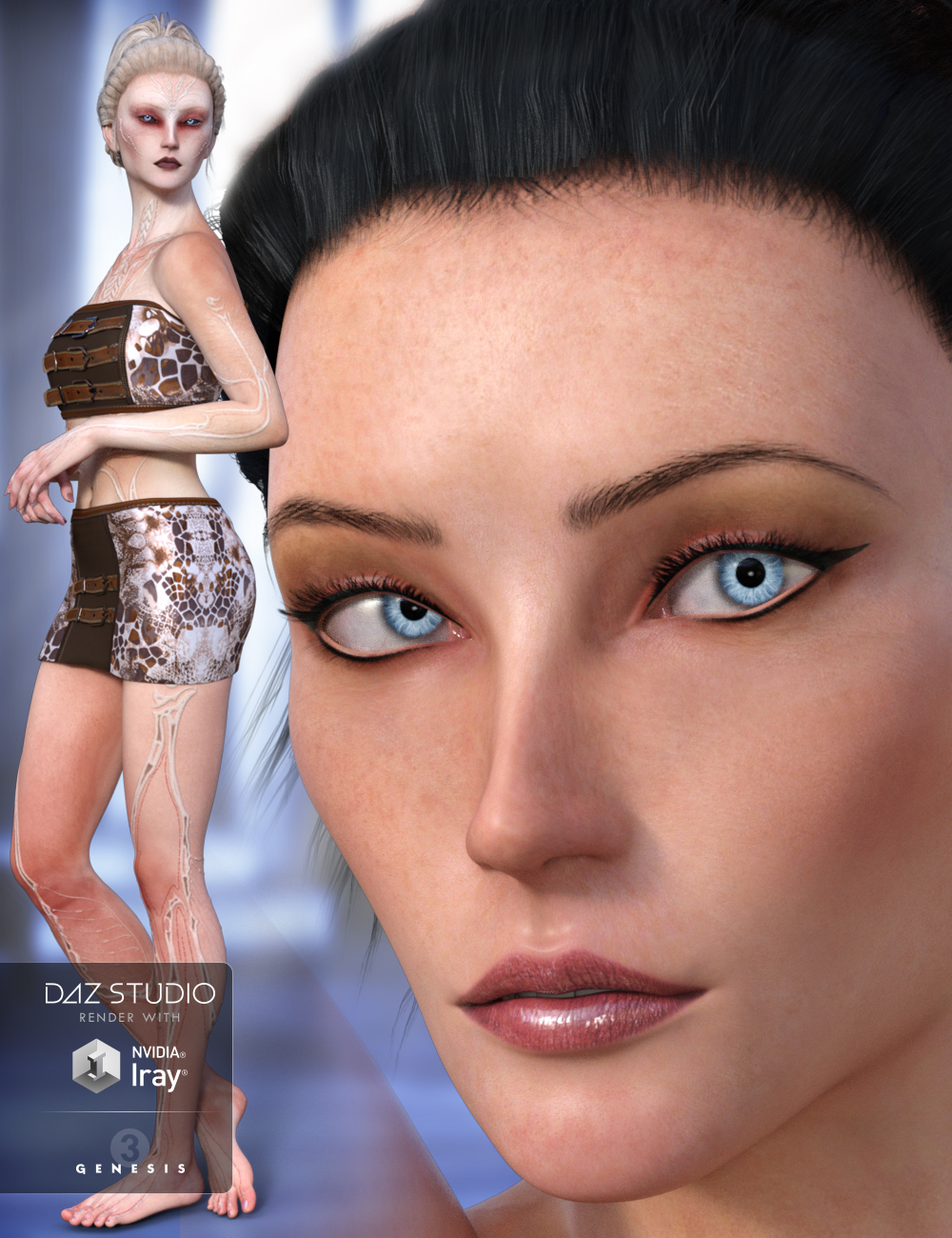 Lady Rune for Genesis 3 Female(s) by: Arki, 3D Models by Daz 3D