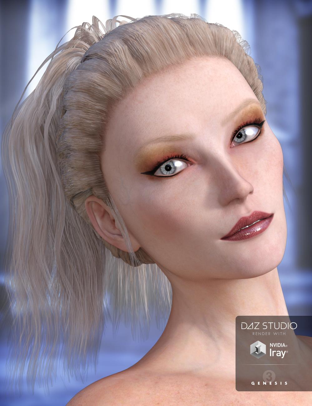 Lady Rune Updo for Genesis 3 Female(s) and Genesis 2 Female(s) by: Arki, 3D Models by Daz 3D
