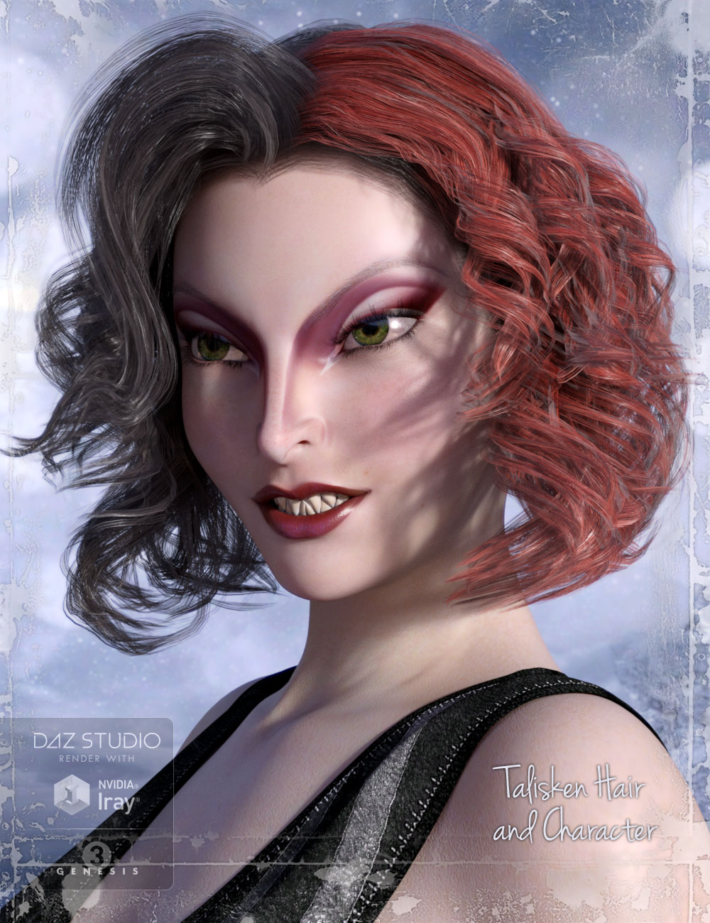 Talisken Hair and Character for Genesis 3 Female(s) by: AprilYSH, 3D Models by Daz 3D