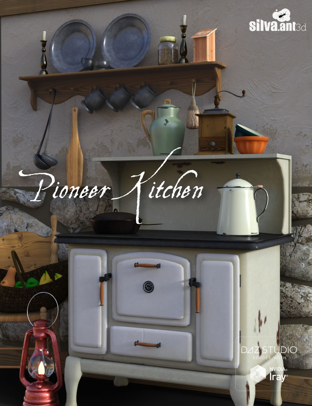 Pioneer Kitchen by: SilvaAnt3d, 3D Models by Daz 3D