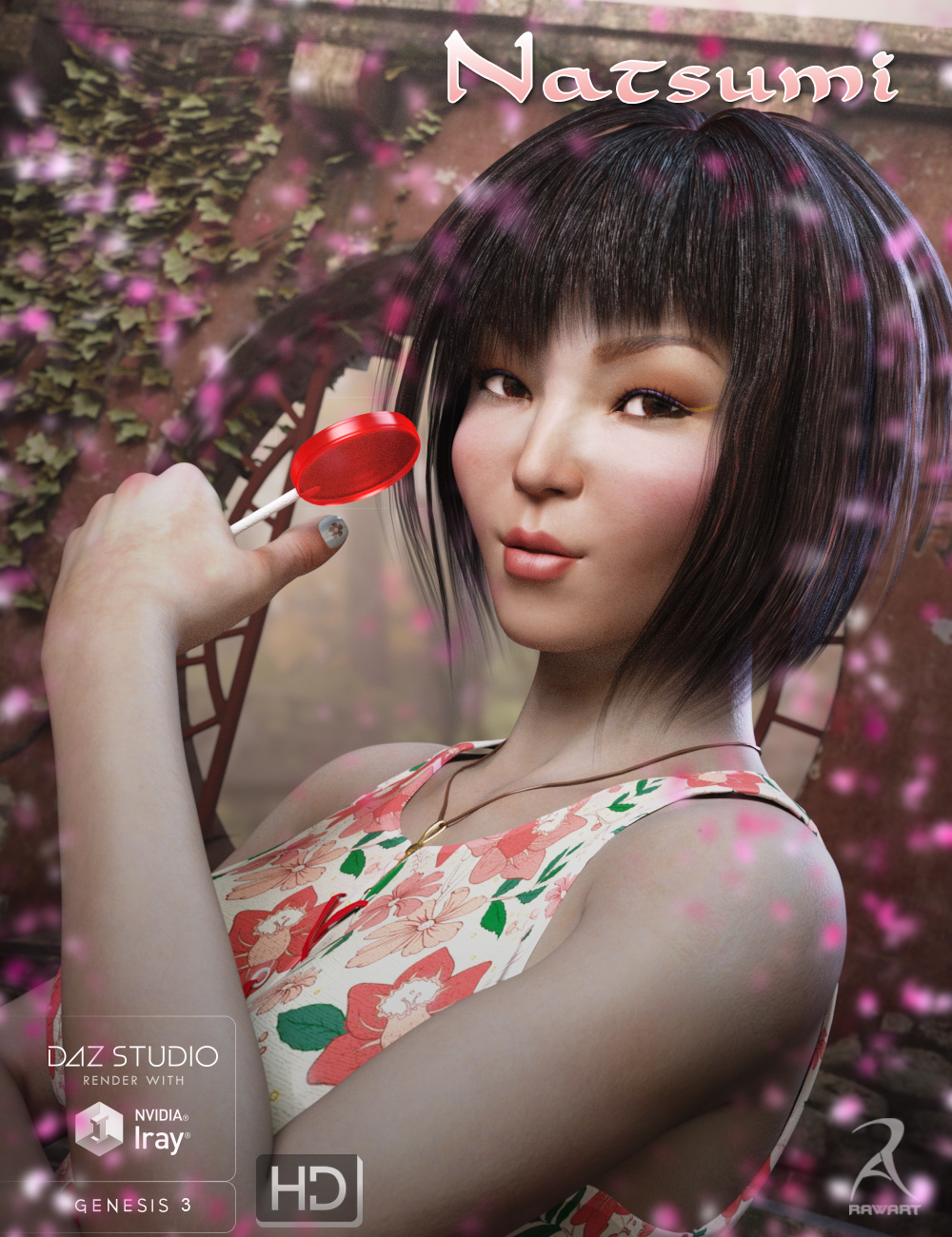Natsumi for Genesis 3 Female by: RawArt, 3D Models by Daz 3D
