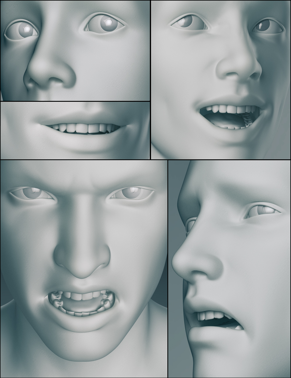 Genesis 3 Male Expressions by: , 3D Models by Daz 3D