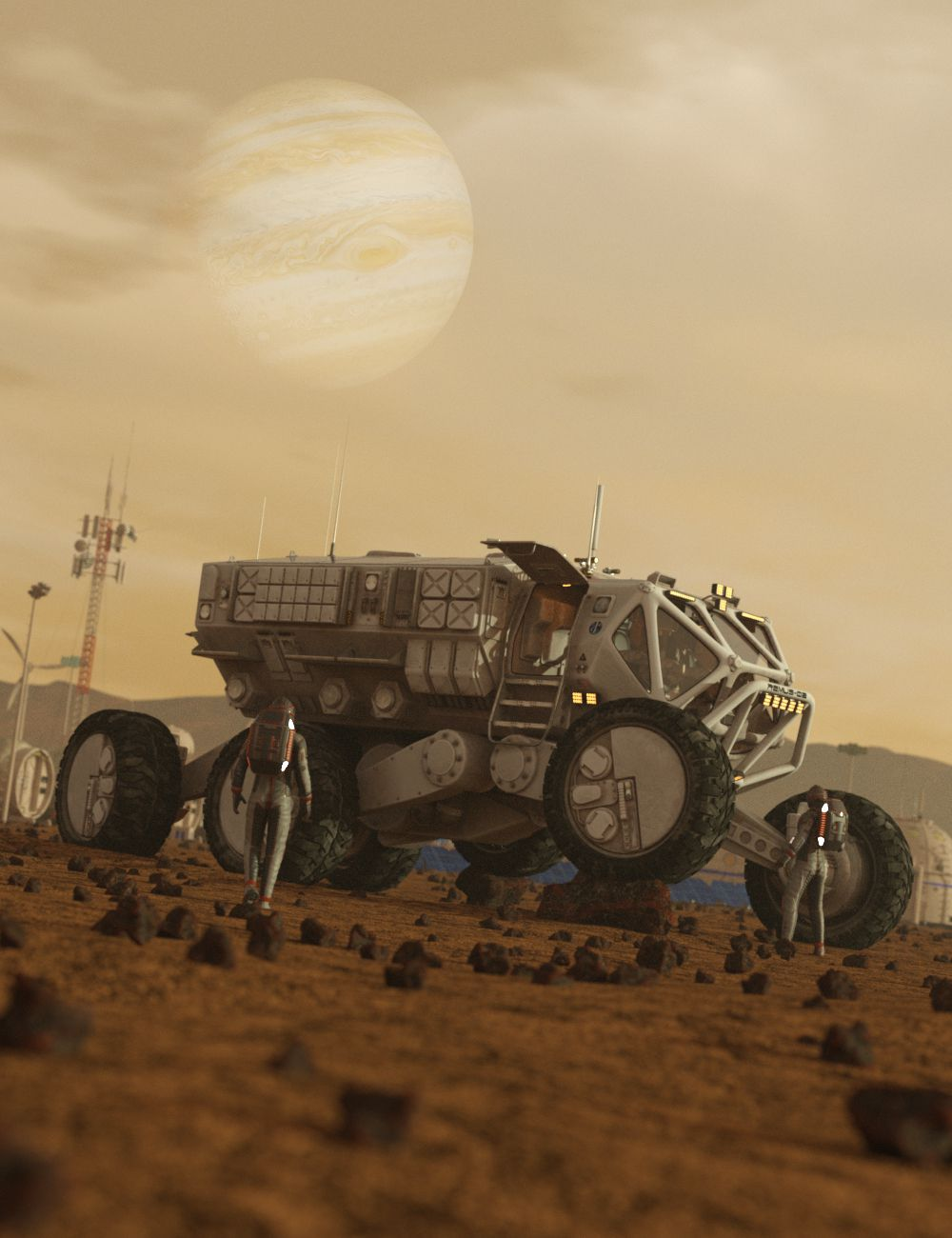Remus-02 Rover by: DzFire, 3D Models by Daz 3D