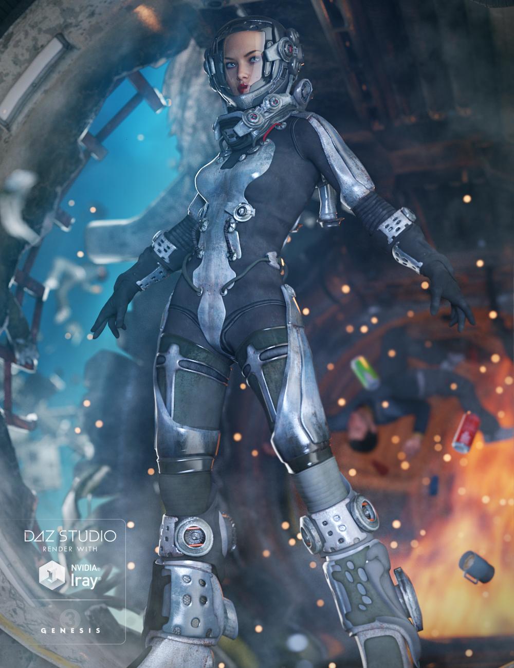 EXO Suit for Genesis 3 Female(s) by: Barbara BrundonDarkStarBurning, 3D Models by Daz 3D