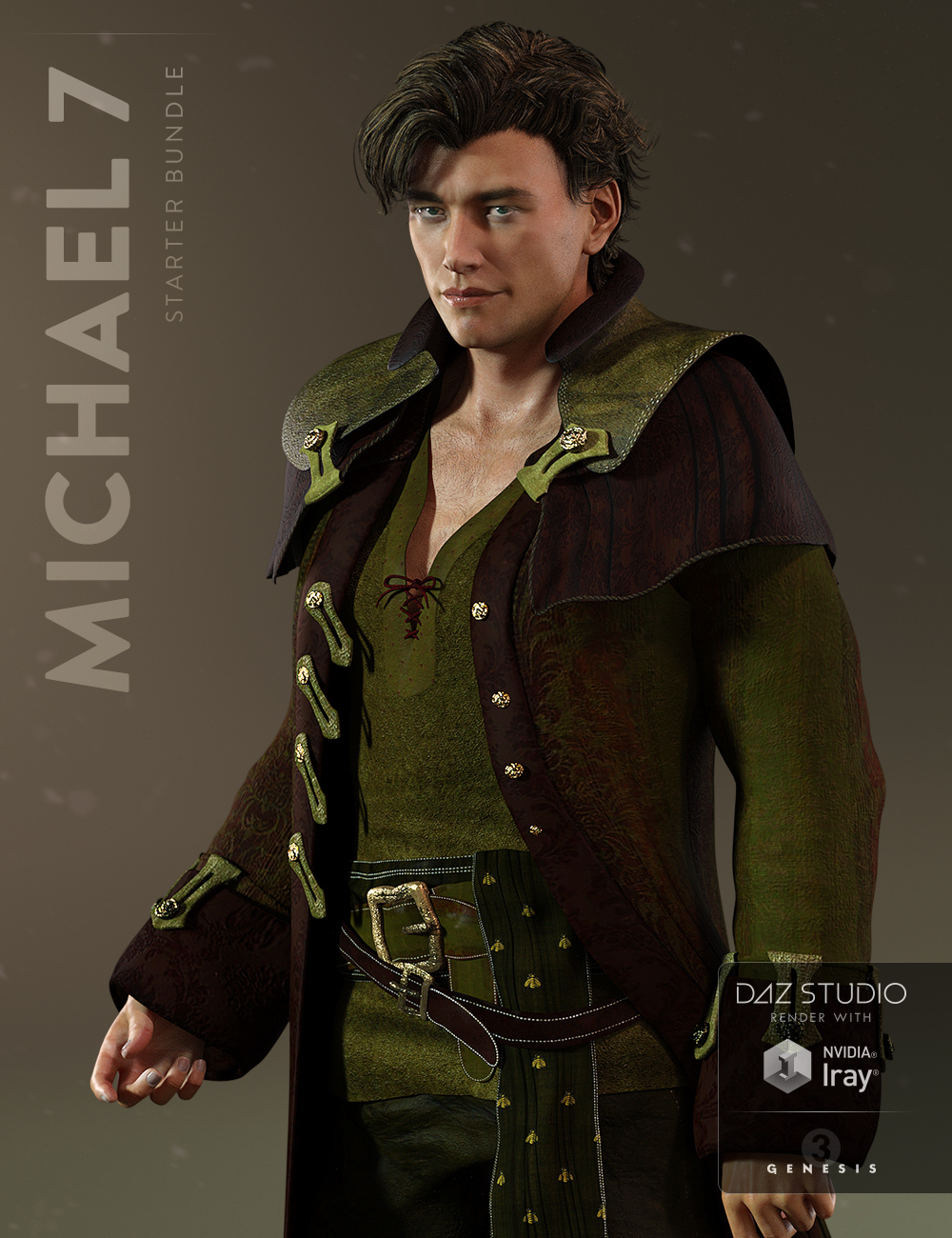 Michael 7 Starter Bundle by: , 3D Models by Daz 3D