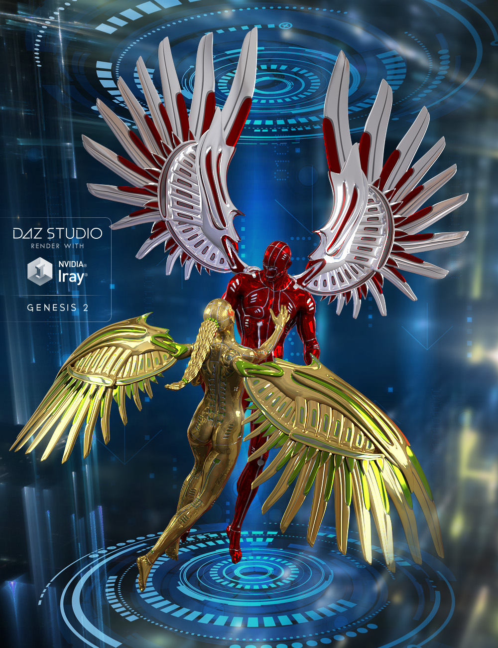 Cyber Wings by: midnight_stories, 3D Models by Daz 3D