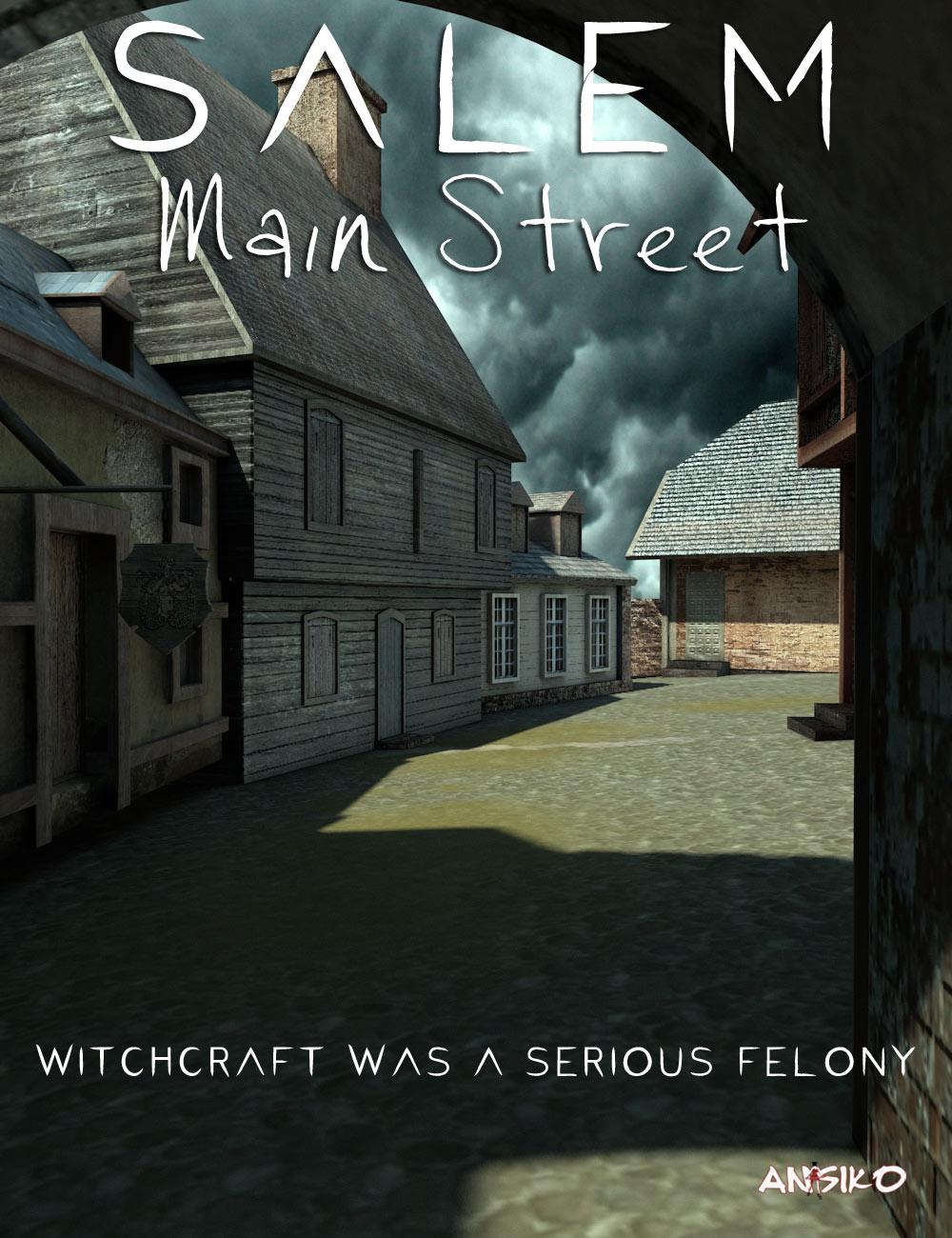 Salem Main Street by: Ansiko, 3D Models by Daz 3D