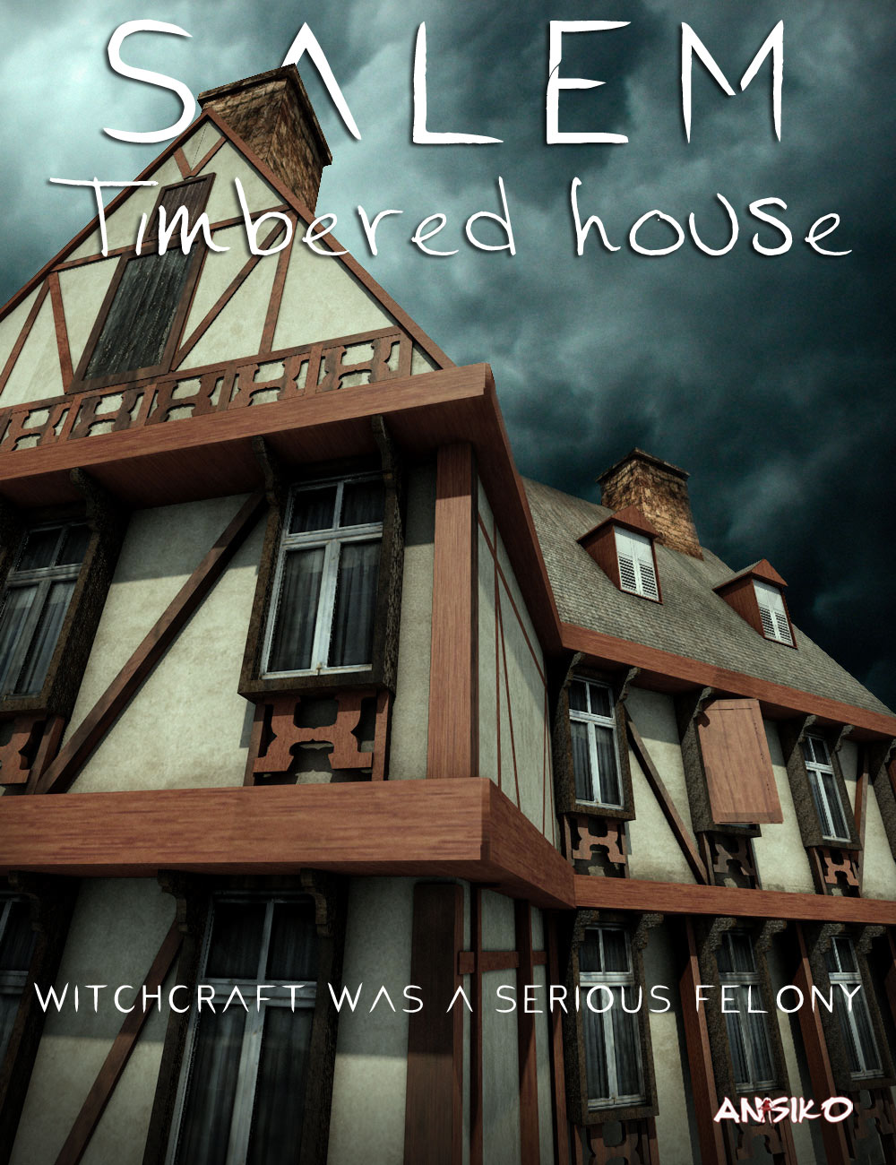 Salem Timbered House by: Ansiko, 3D Models by Daz 3D