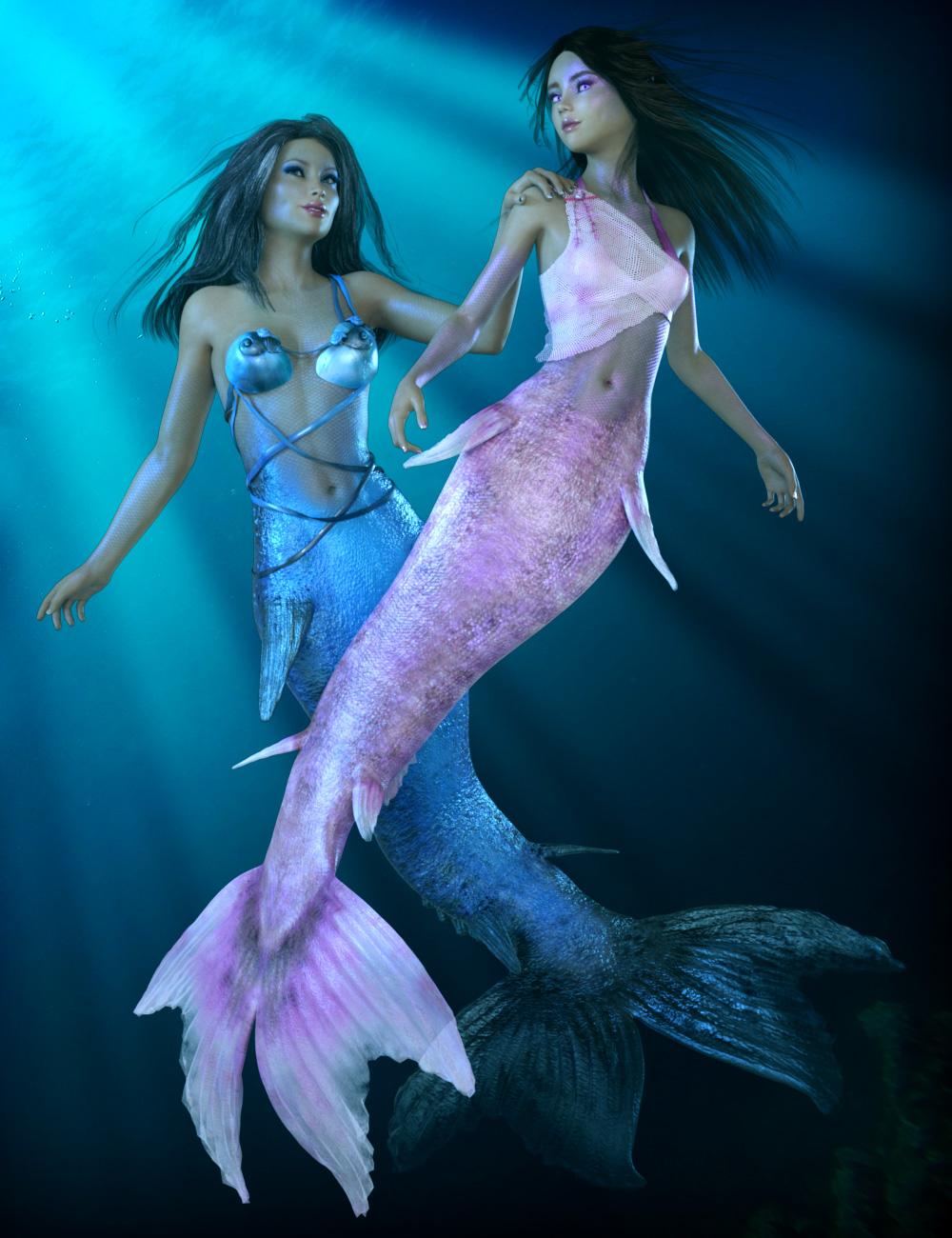 Laguna-Colors for Mermaid Set by: esha, 3D Models by Daz 3D