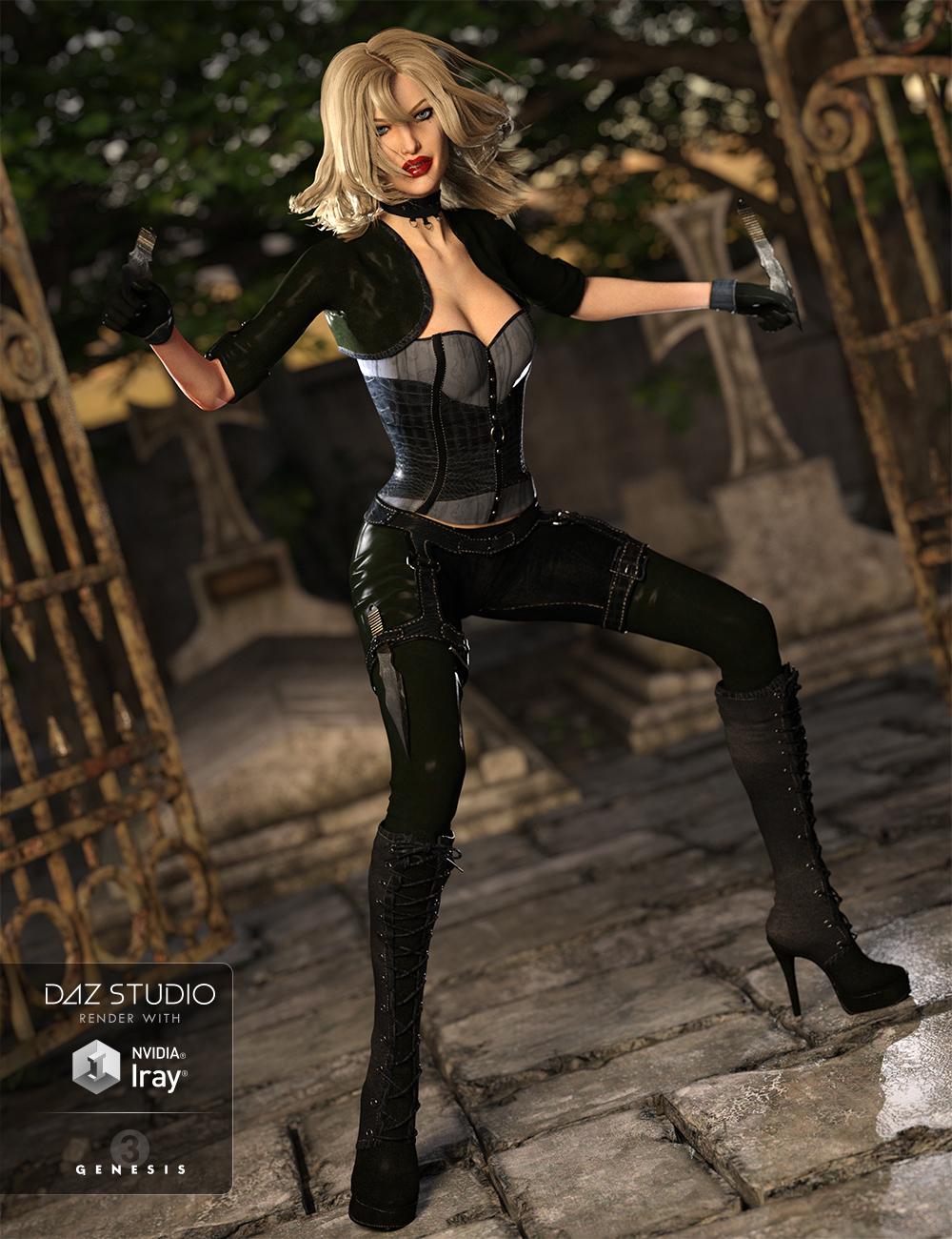 Deadly Night Shade for Genesis 3 Female(s) by: Anna BenjaminBarbara Brundon, 3D Models by Daz 3D