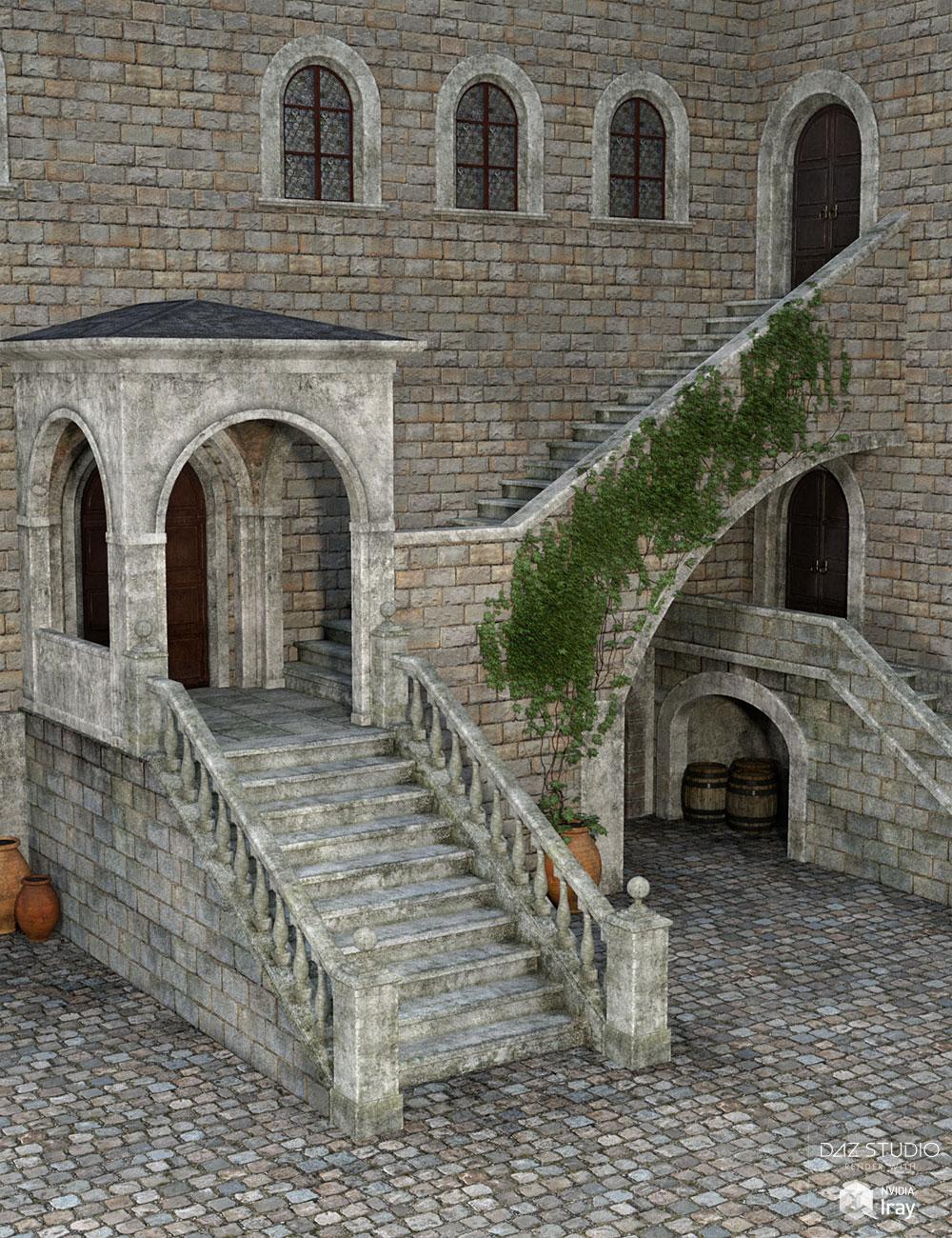 DM's Courtyard by: Daniemarforno, 3D Models by Daz 3D