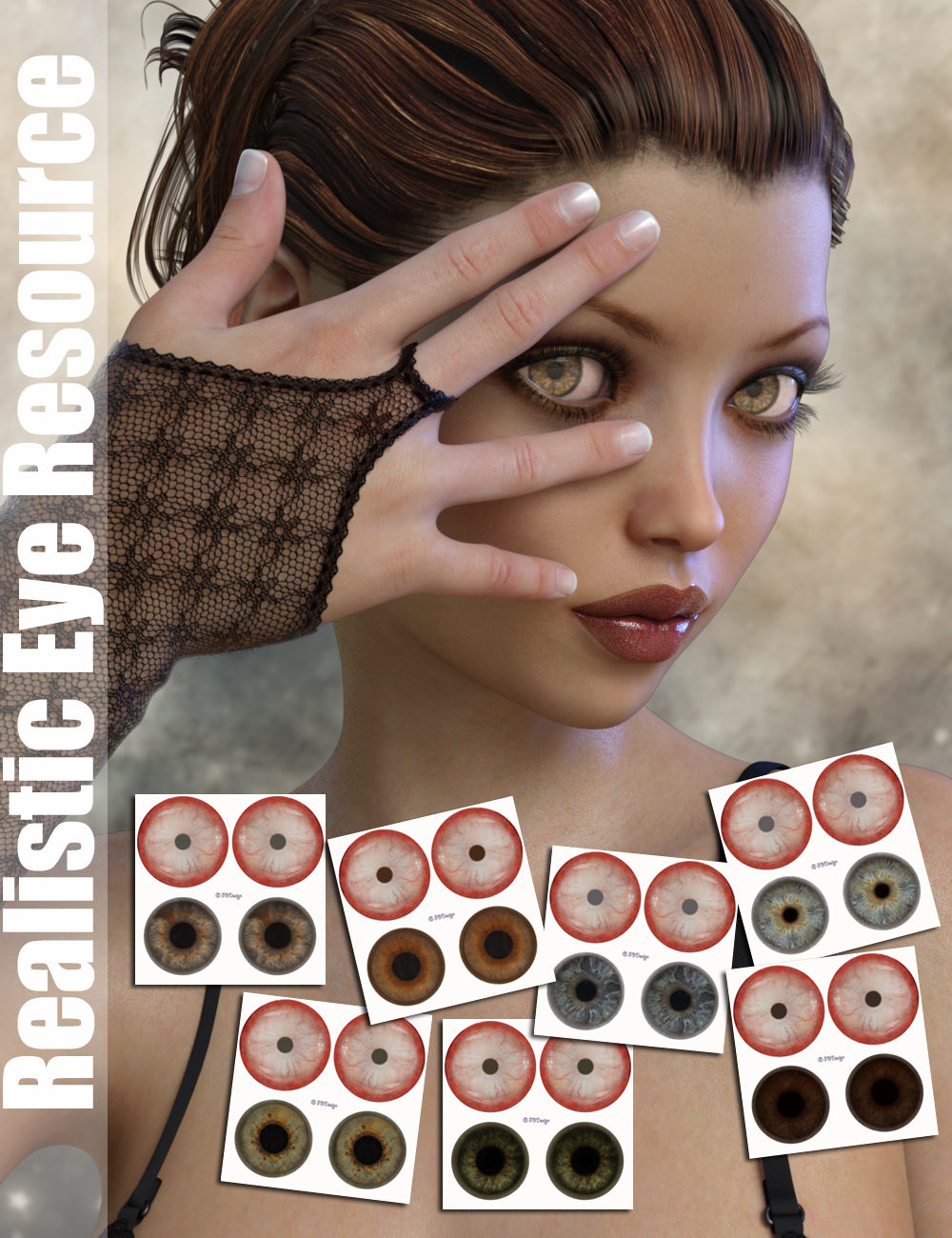 P3D Realistic Eye Resource for Genesis 3 Female(s) by: P3Design, 3D Models by Daz 3D