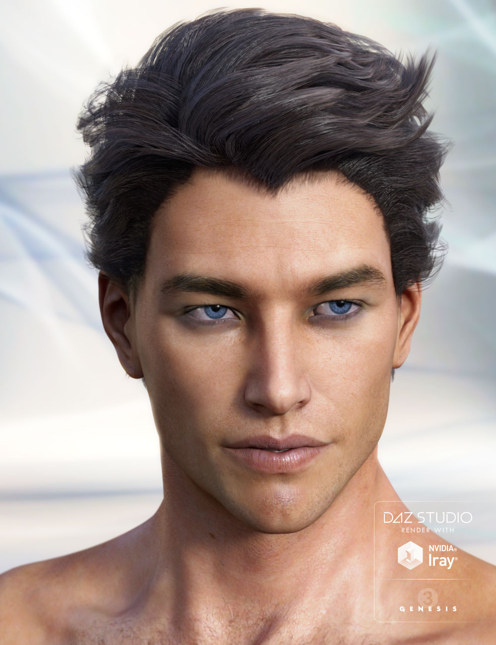 Fraser Hair by: AprilYSH, 3D Models by Daz 3D