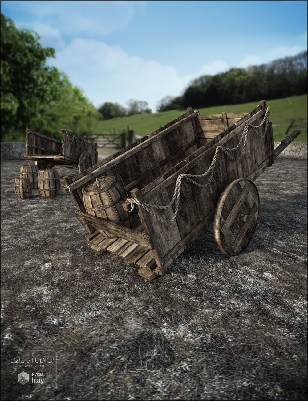 Medieval Cart by: Jack Tomalin, 3D Models by Daz 3D
