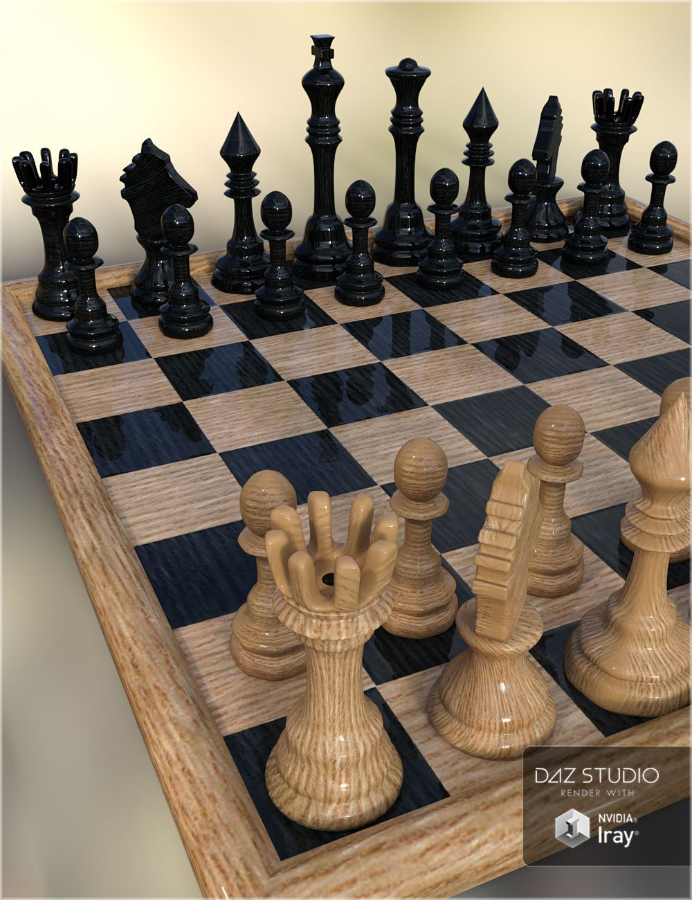 RW Classic Chess by: Renderwelten, 3D Models by Daz 3D