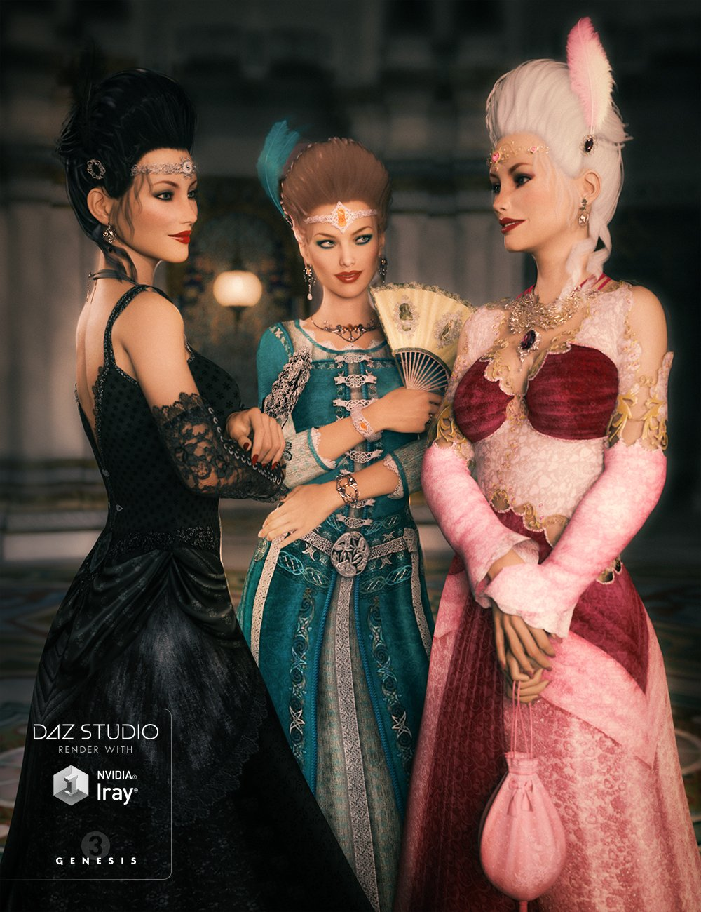 Morphing Fantasy Dress for Genesis 3 Female(s) by: JGreenleesPoisenedLilyRavenhair, 3D Models by Daz 3D