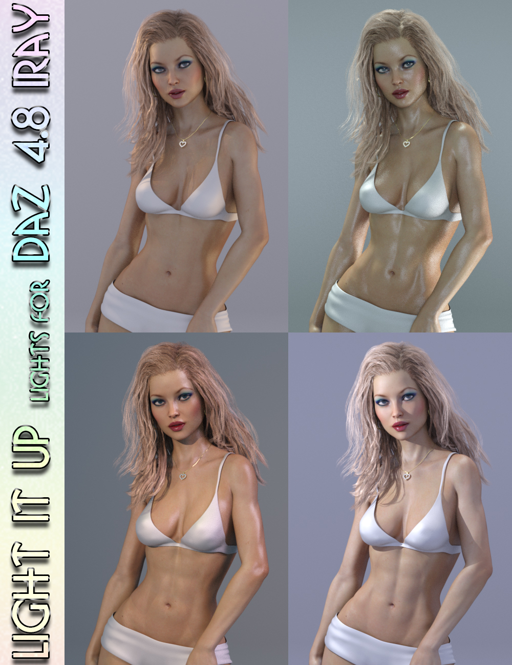 Light It Up Iray Lights by: lunchlady, 3D Models by Daz 3D