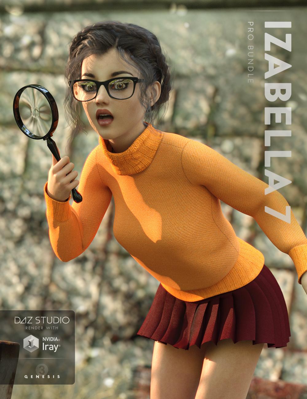 Izabella 7 Pro Bundle by: , 3D Models by Daz 3D