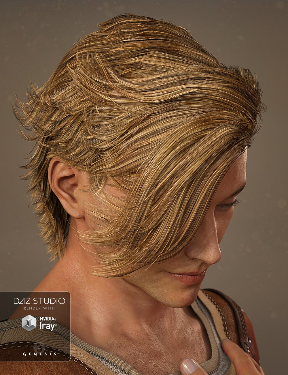 Mathew Hair for Genesis 3 Male(s) and Genesis 2 Male(s) by: goldtassel, 3D Models by Daz 3D