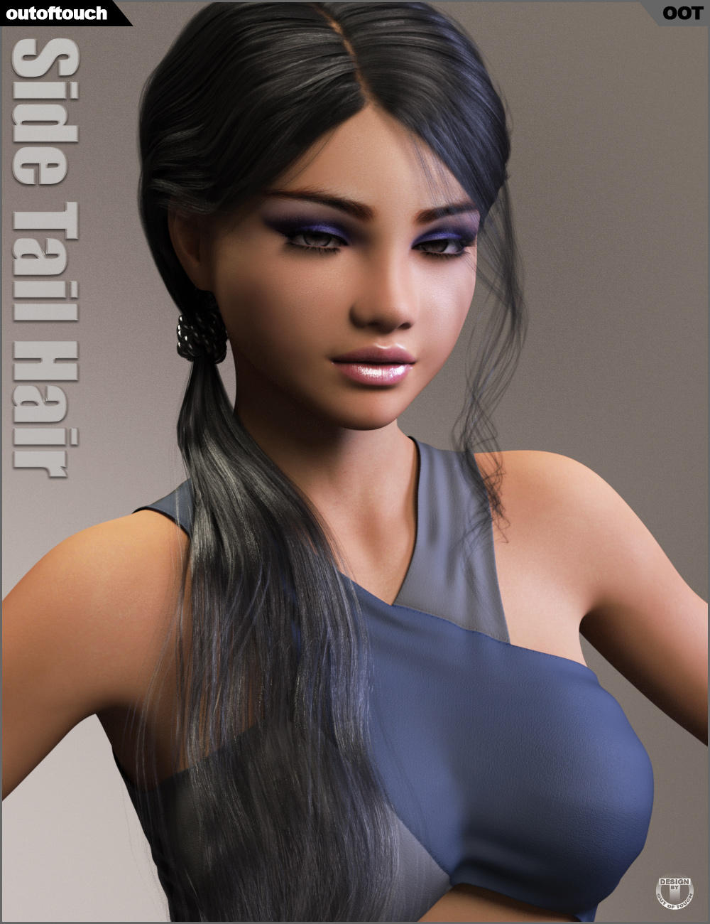 Side Tail Hair by: outoftouch, 3D Models by Daz 3D