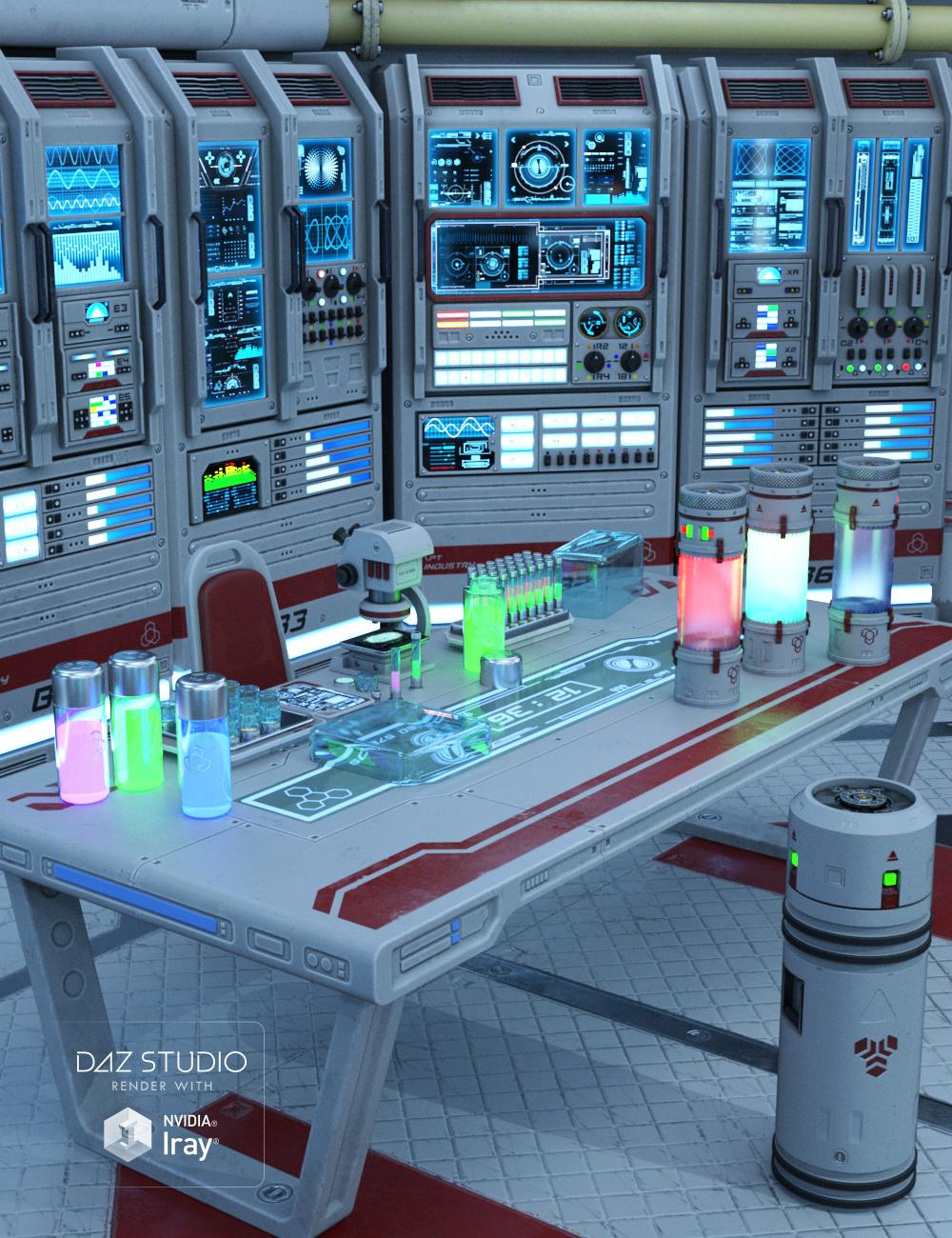 Sci-fi Lab Props by: petipet, 3D Models by Daz 3D