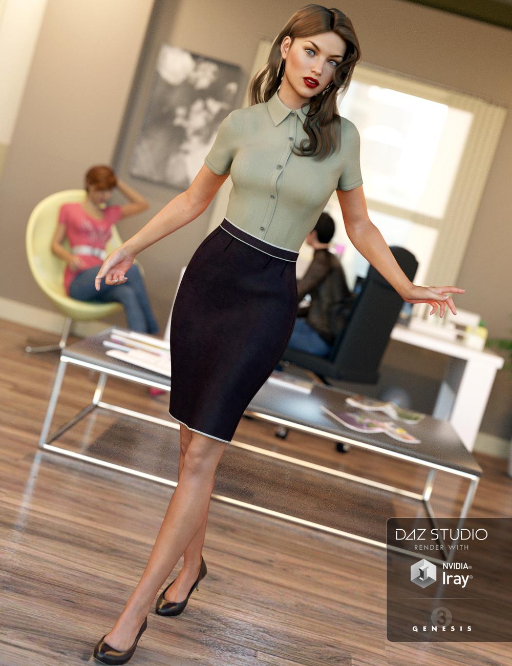 Office Wear for Genesis 3 Female(s) by: IH KangSarsa, 3D Models by Daz 3D