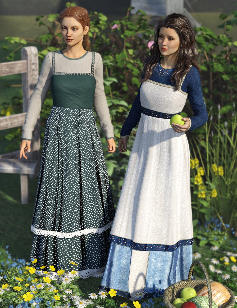 Simple Peasantry by: Sarsa, 3D Models by Daz 3D