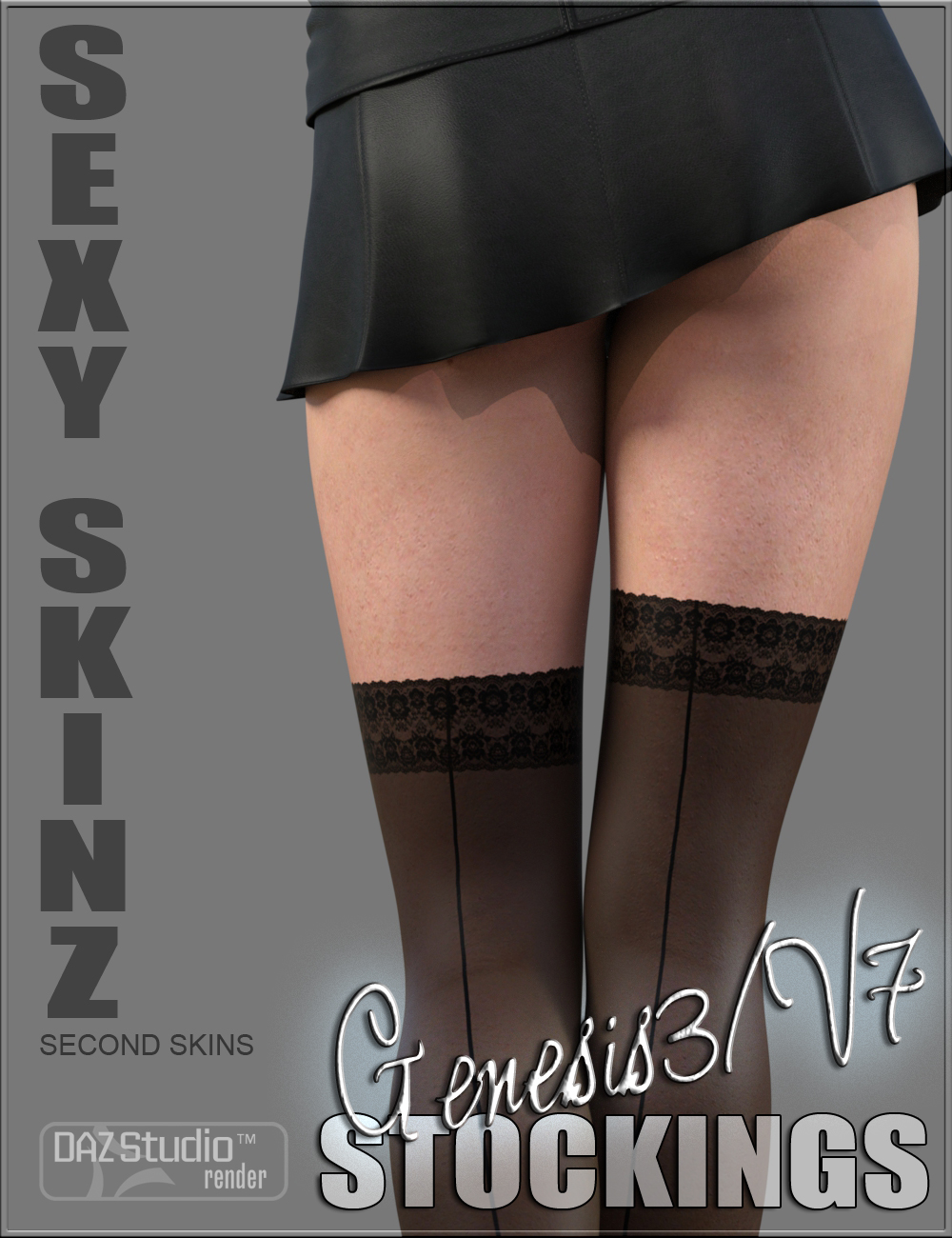 Sexy Skinz - Stockings for Genesis 3 Female by: vyktohria, 3D Models by Daz 3D