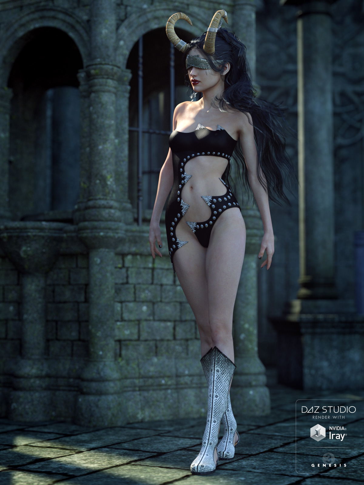 Dark Intent for Genesis 3 Female(s) by: LilflameShox-Design, 3D Models by Daz 3D