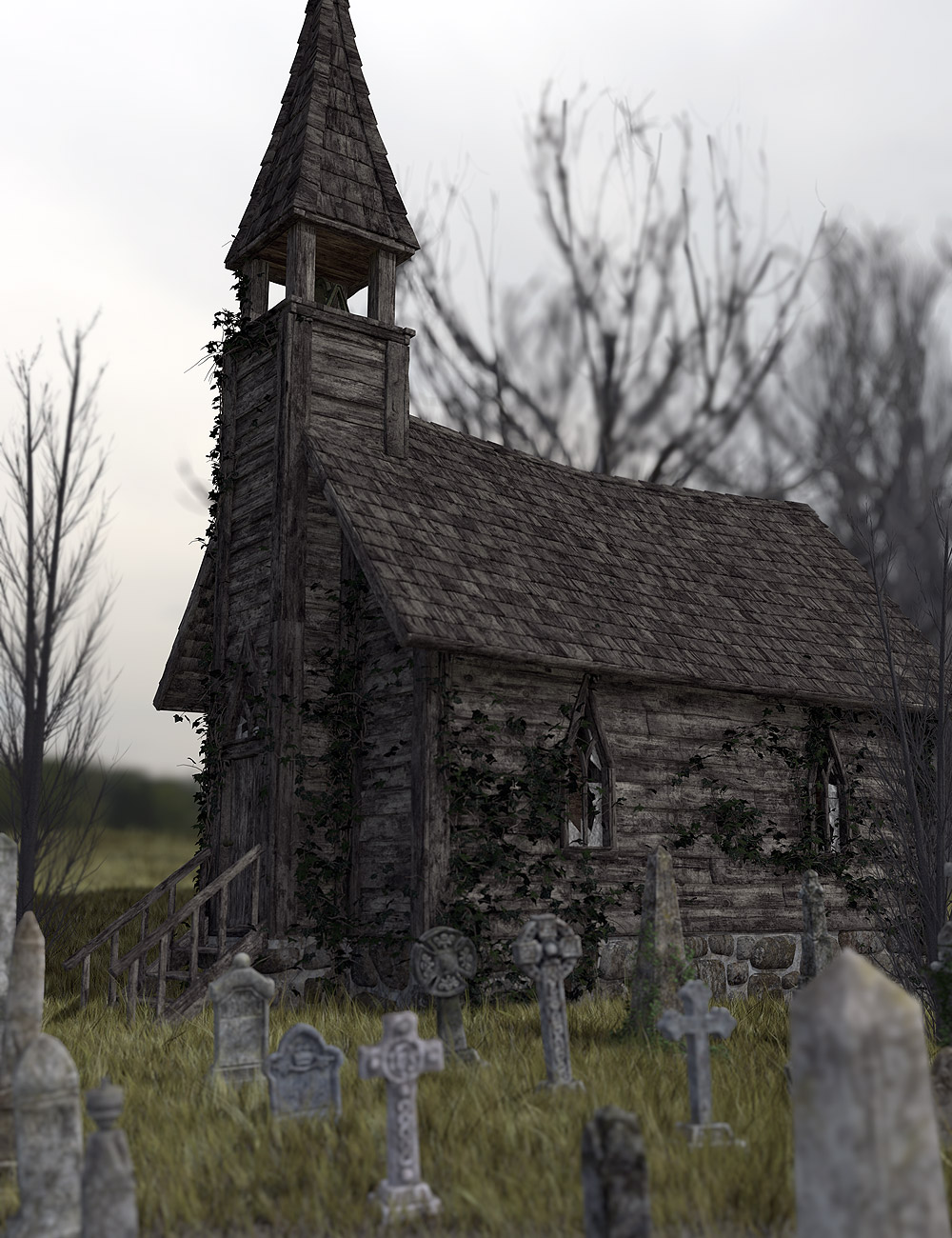 Forgotten Chapel by: Orestes Graphics, 3D Models by Daz 3D
