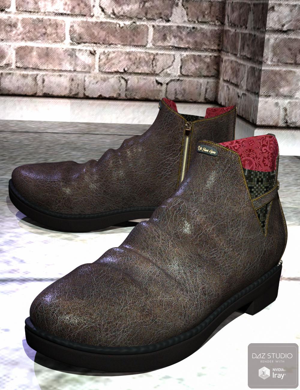 Short Gore Boots for Genesis 3 Male(s) by: tentman, 3D Models by Daz 3D