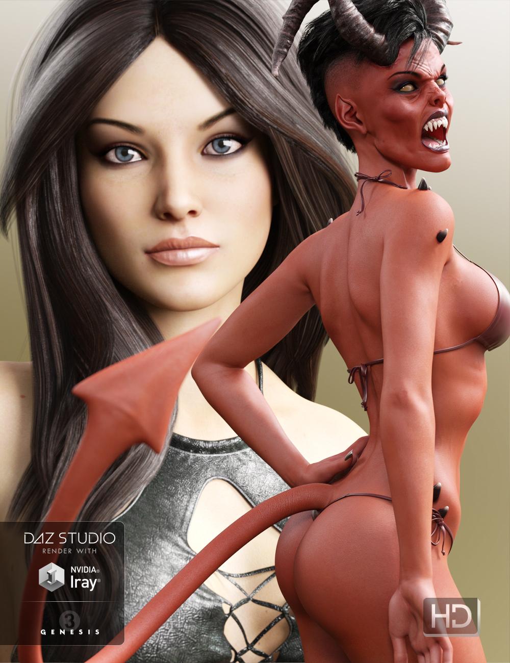 Tara & Sachra HD for Victoria 7 by: Kayleyss, 3D Models by Daz 3D