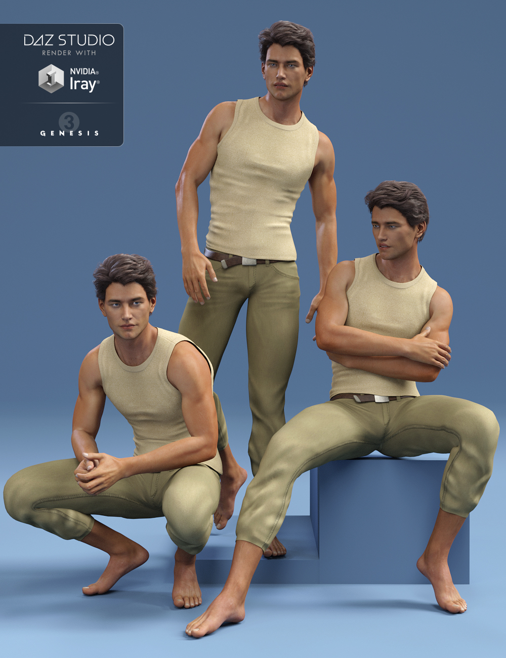 Everyday Poses for Michael 7 by: Capsces Digital Ink, 3D Models by Daz 3D